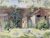 Geese in the Garden