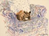 Cat on Armchair