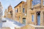 Looking Towards the Church, Xaghra, Gozo