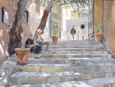 Steps to the Roman Washing Place, Cefalu, Sicily