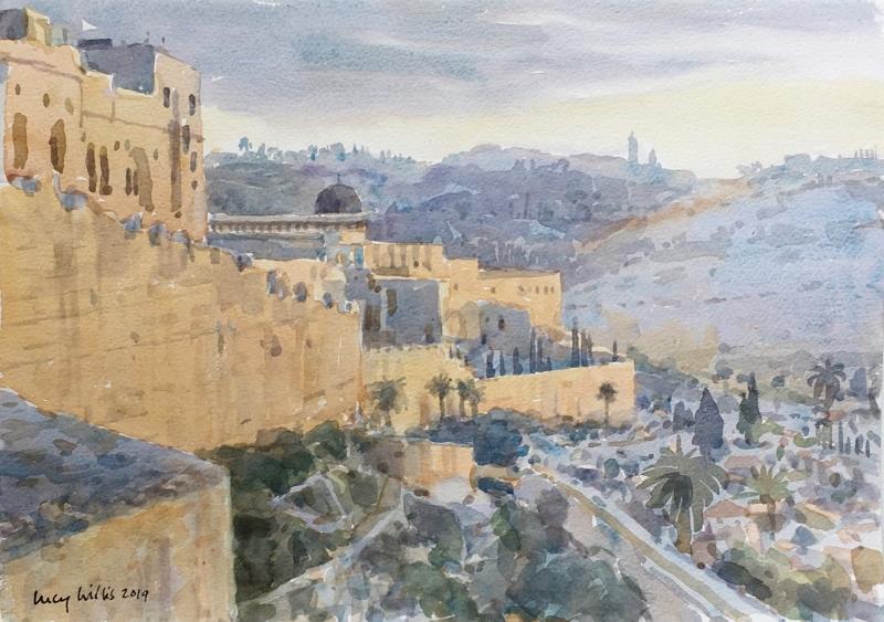 Sunrise on the City Wall, Jerusalem