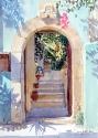 Door in a Turquoise Wall, Hania