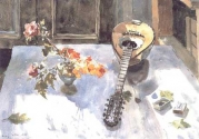 Flowers and Mandolin