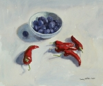 Damsons and Red Peppers