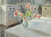 Tulips in a Sunny Kitchen
