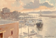 Sunset on the Harbour, Hania