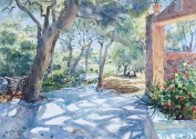 Picnic in the shade, Syros