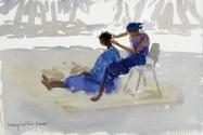 Cousins in Blue, Senegal